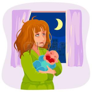 vermoeide-moeder-die-een-huilende-baby--s-nachts