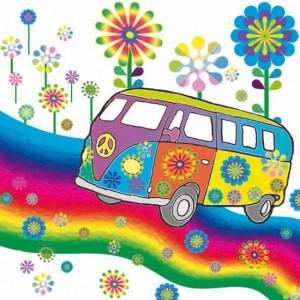 vrolijke bus